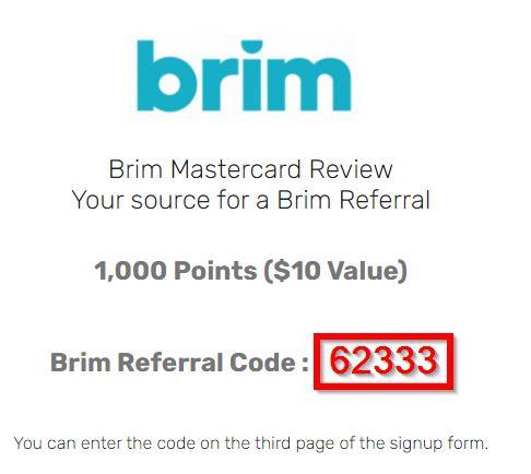 Brim Referral Code