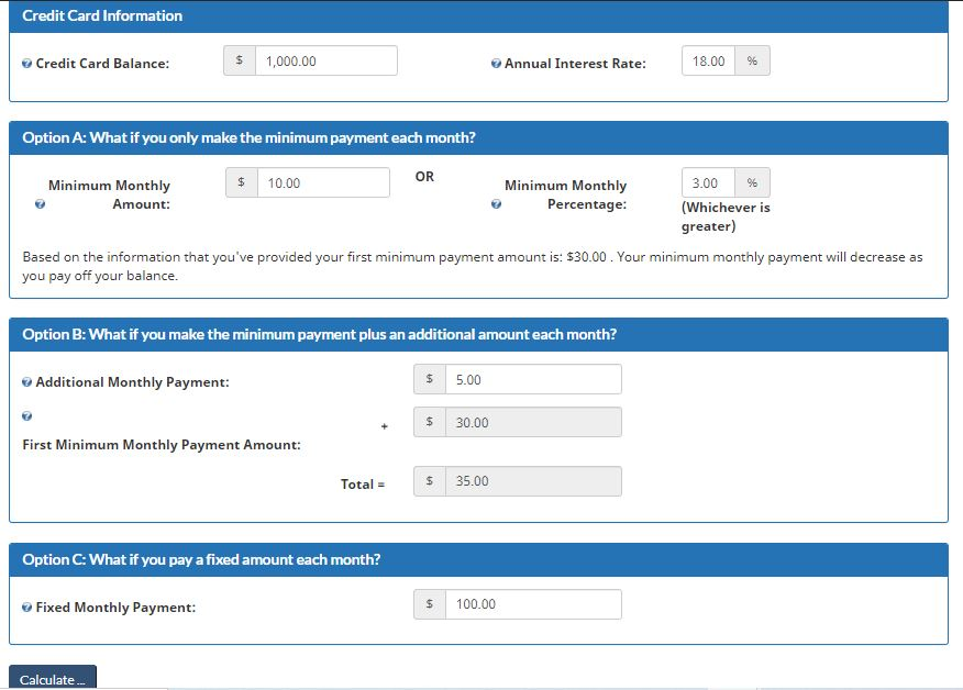 Credit Card Payment Calculator 1 1
