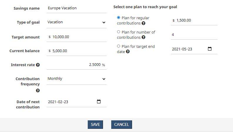 Financial Goal Calculator 3 2