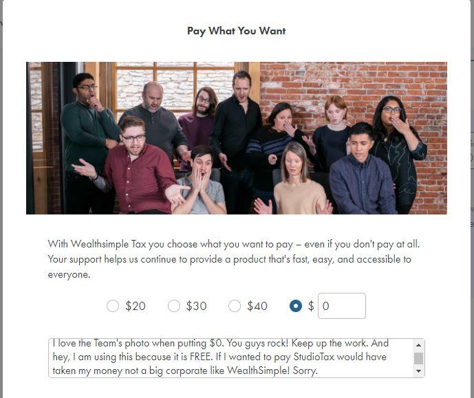 WealthSimple Tax Sad Team