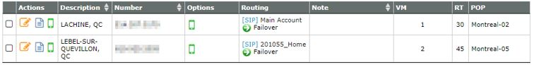 My VoIP.MS DIDs Under DID Numbers | Manage DID(s)