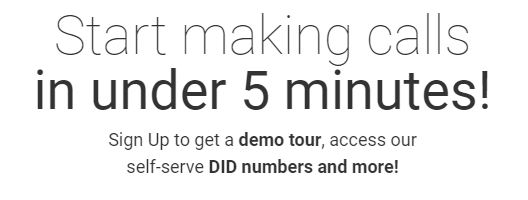 Voip.ms Sign up. Takes 5 minutes