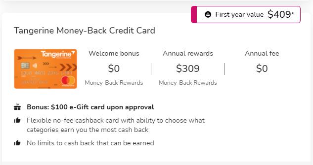 Tangerine Money Back Card 1
