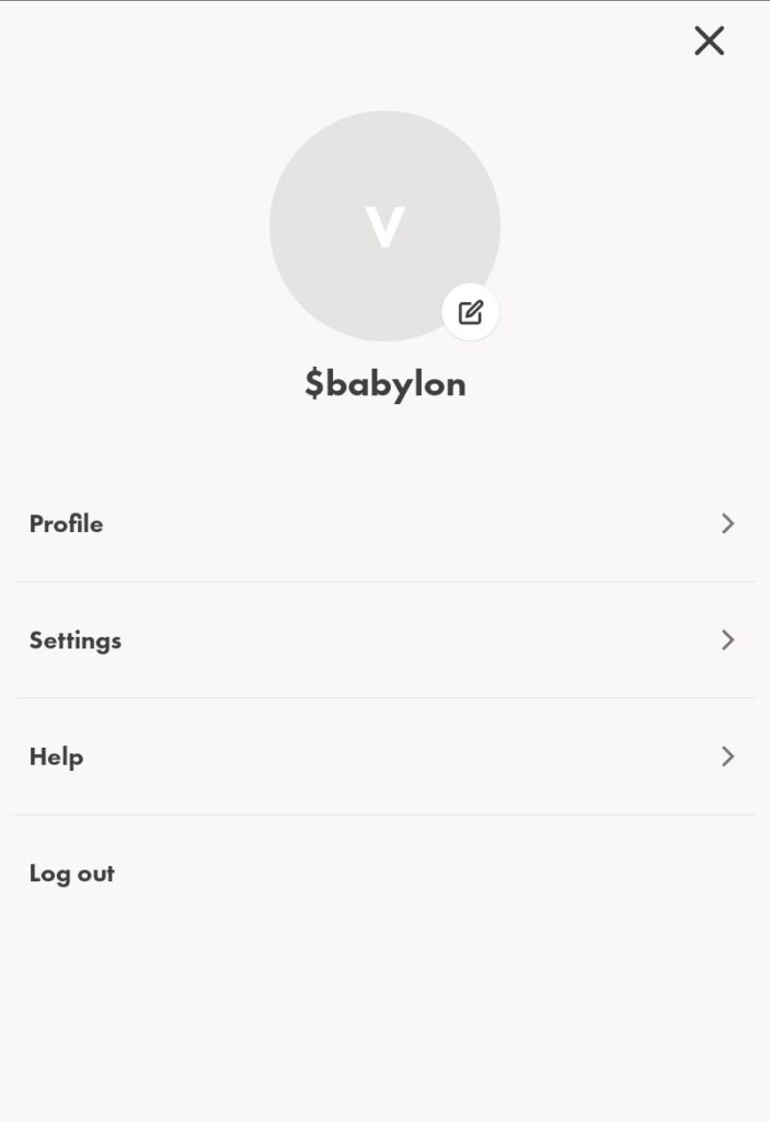 Profile and Settings 1