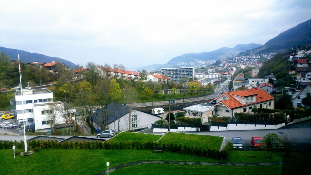 The View From Our Bergen Airbnb, Bergen, Oslo