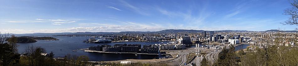 Ekebergparken Panoramic View of Oslo