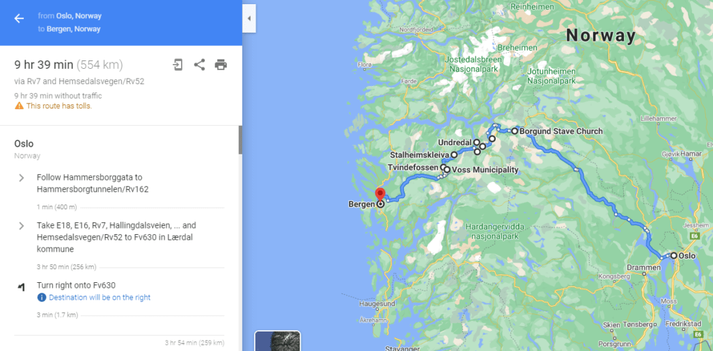 The Most Beautiful Norwegian Drive - Oslo to Bergen