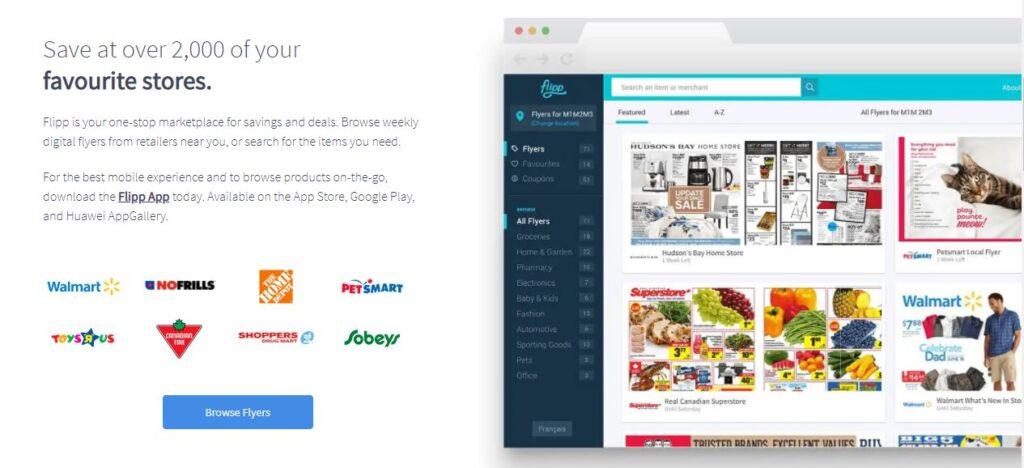 Flipp App for digital flyer - Best grocery app