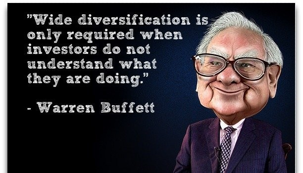 Warren Buffett - Diversification is only required when investors do not understand what they are doing.