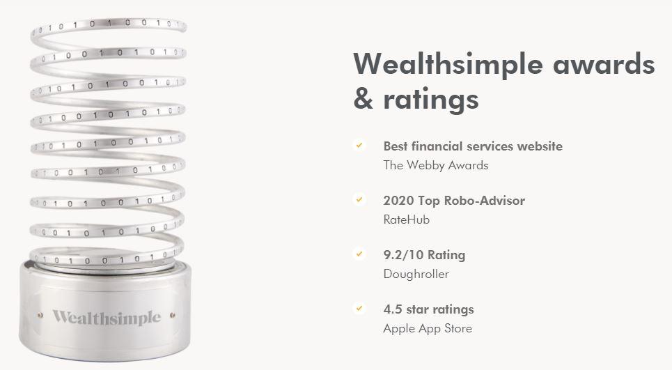 Wealthsimple Awards Ratings
