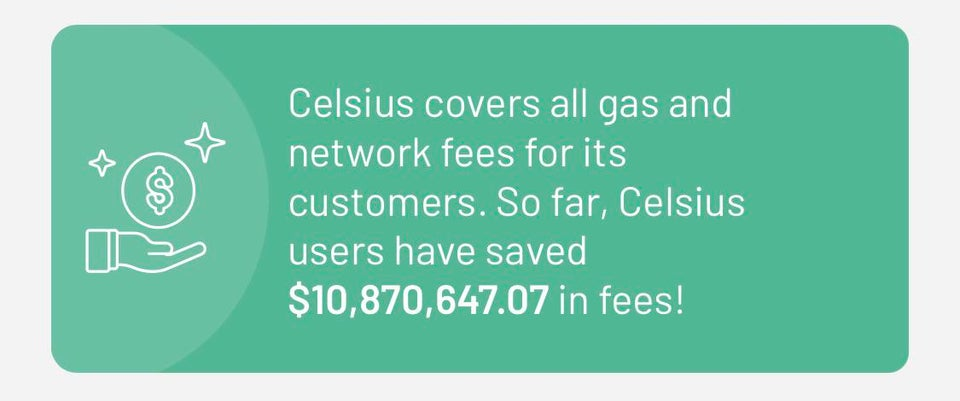 Celsius Covers Gas & Network Fees