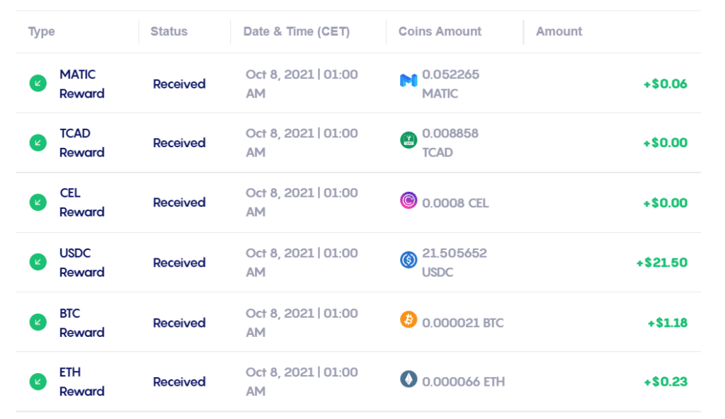 Celsius Exchange Monday Pay Day